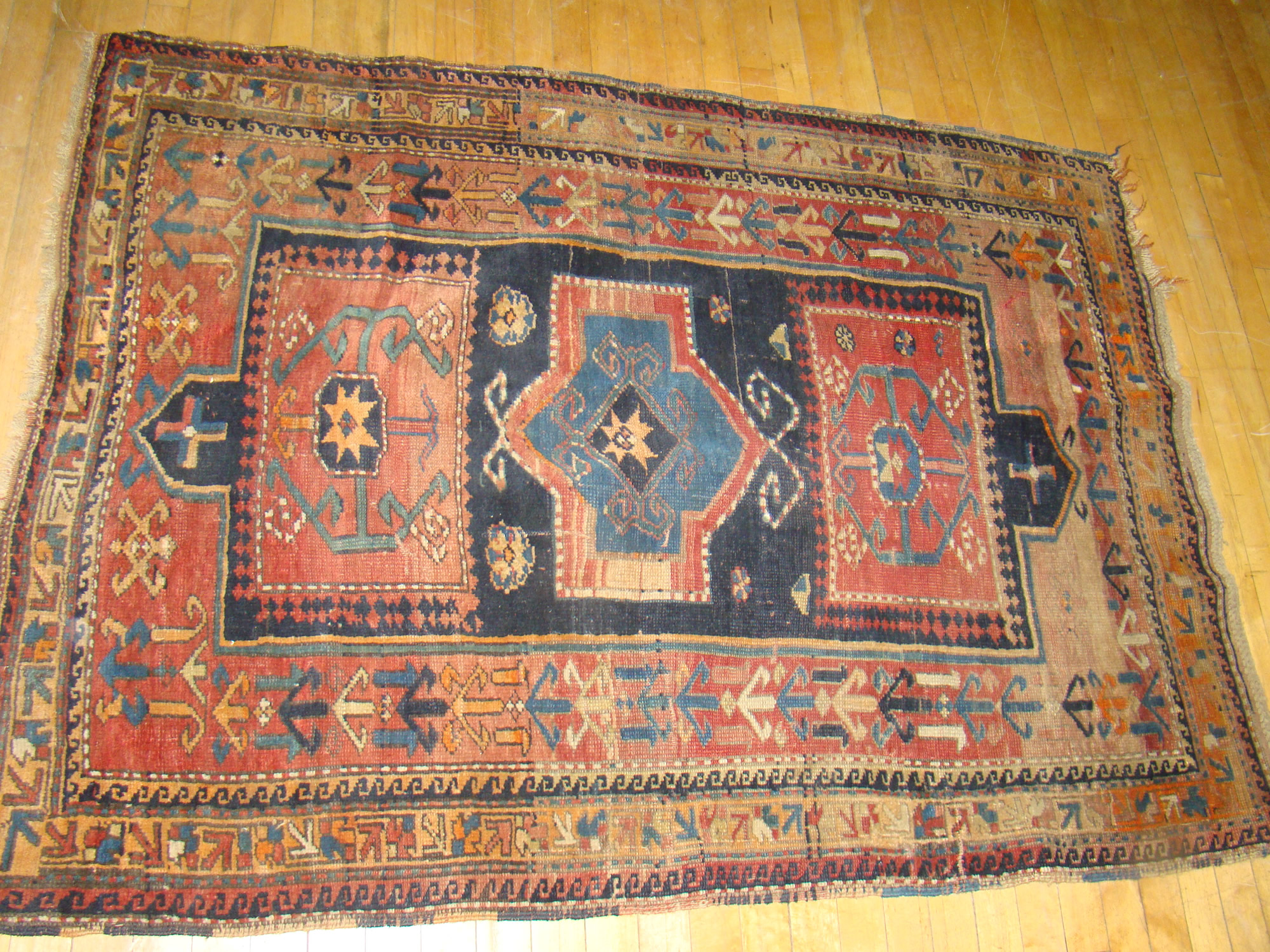 colours rug tribal handmade nomadic of oriental terracotta cream rugs blue persian with the product and qashqai design wonderful merchant