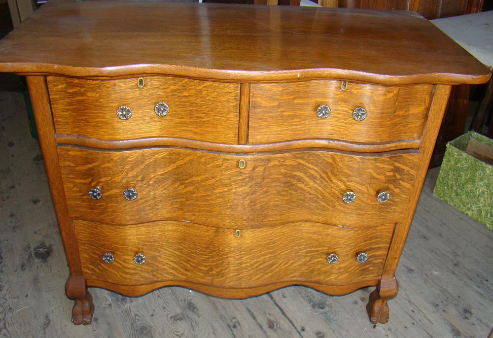 Claw Foot Oak Chest